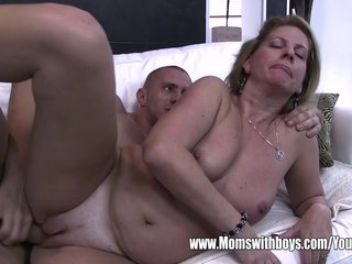Stepson Caught Masturbating By His Blonde Horny Stepmom