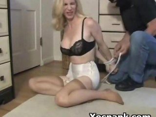 Horny Whore In Bondage Spanking